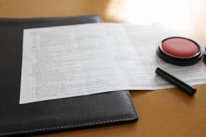 雇用契約書の写真